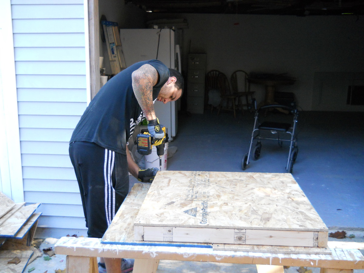 building the houses