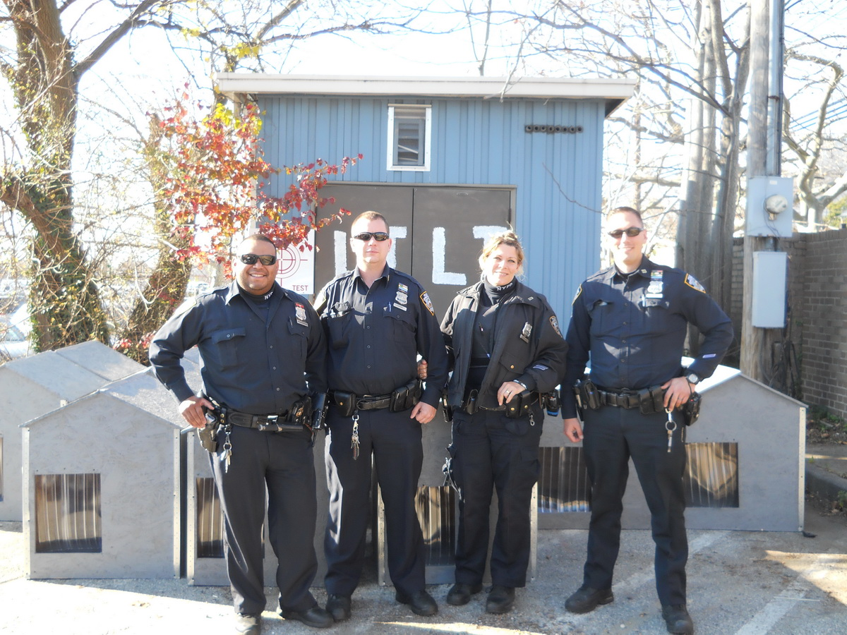 Dog house giveaway event with NYPD 2015